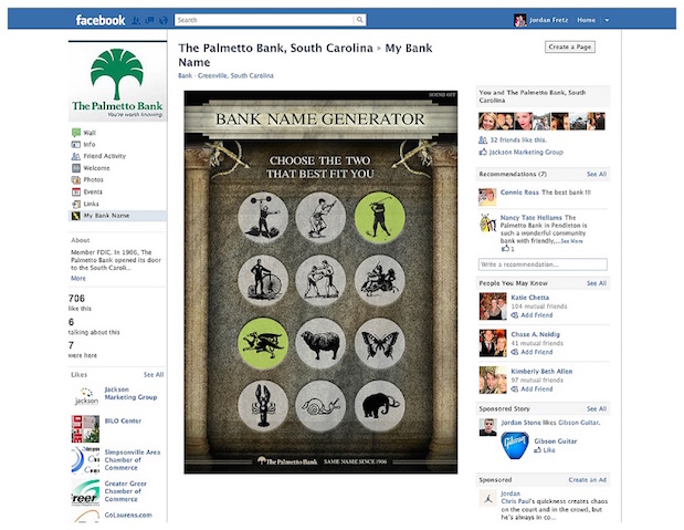 Palmetto-Bank-Facebook-App-and-website-copywriting-greenville-Lochness-Marketing-Bank-Chose