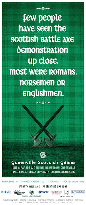 Scottish-Games-freelance-copywriter-Lochness-Marketing-greenville-battle-axe