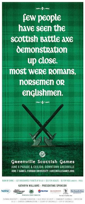 Scottish-Games-freelance-copywriter-Lochness-Marketing-greenville-battle-axe