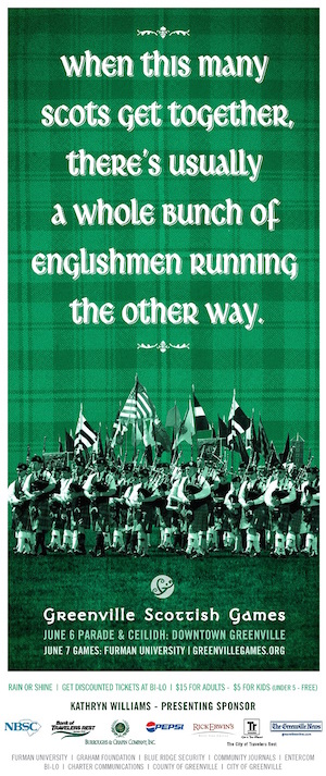 Scottish-Games-freelance-copywriter-Lochness-Marketing-greenville-englishmen