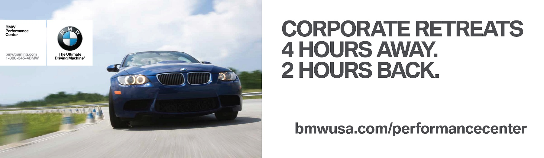 BMW-Performance-Center-advertising-copywriting-Lochness-Marketing-corporate-retreats