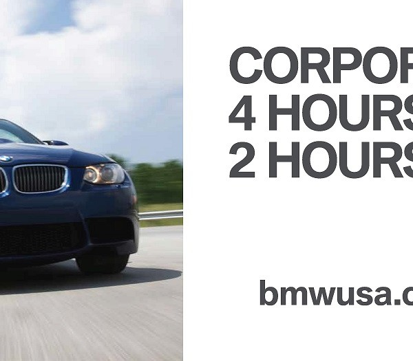 Outdoor advertising copywriting by Lochness Marketing for BMW Performance Center family corporate retreat