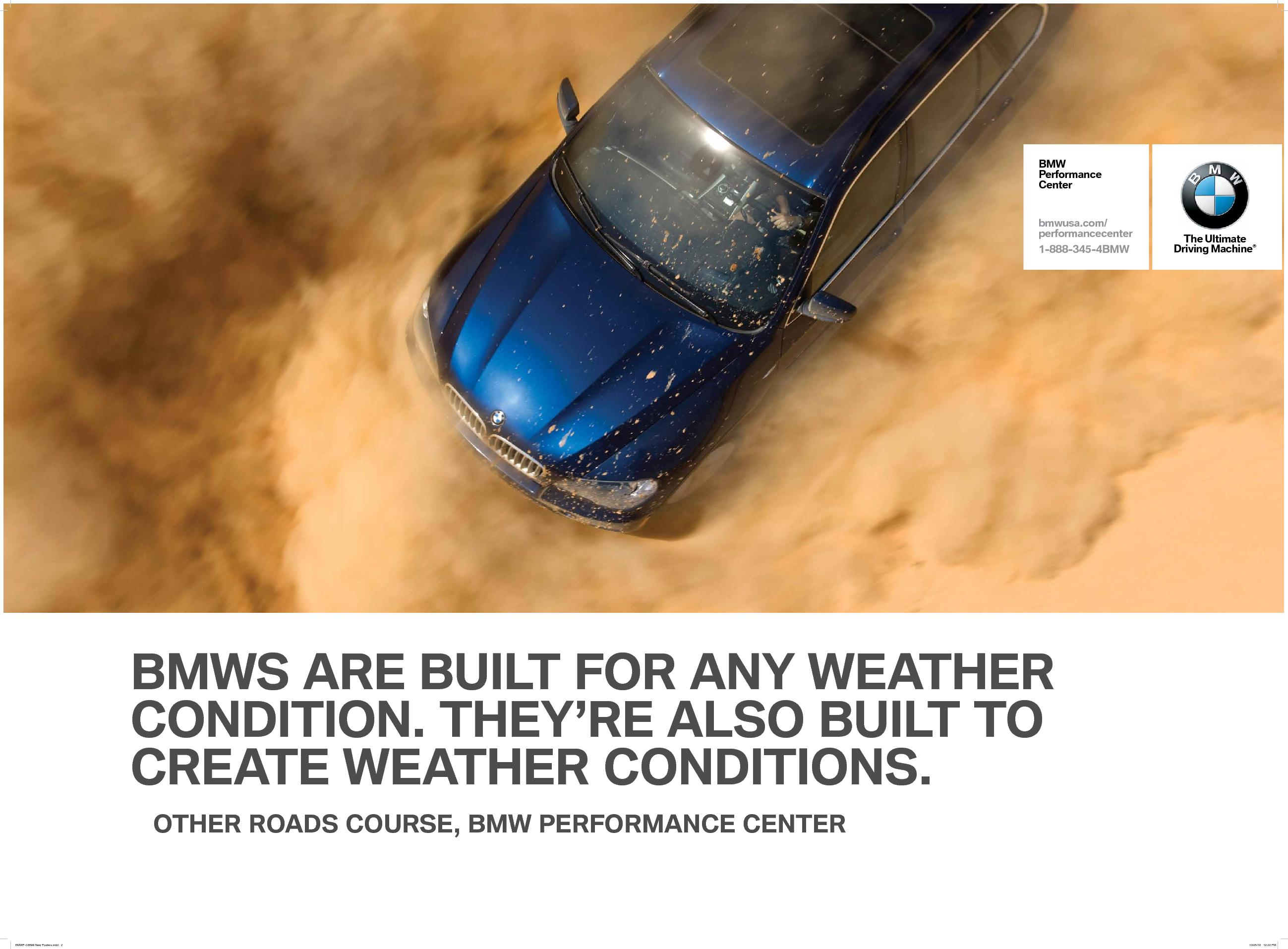 BMW-Performance-Center-advertising-copywriting-by-Lochness-Marketing-greenville-weather-conditions