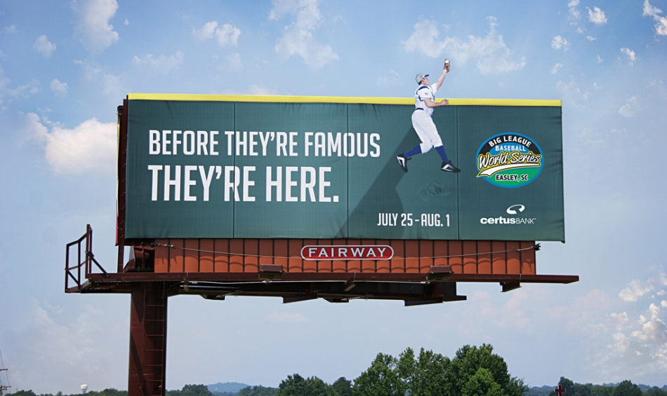 Big-League-World-Series-outdoor-advertising-copywriting-work-by-Lochness-Marketing-greenville-famous