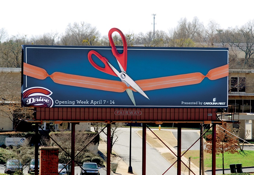 Greenville-Drive-outdoor-advertising-copywriting-by-lochness-marketing-opening-week
