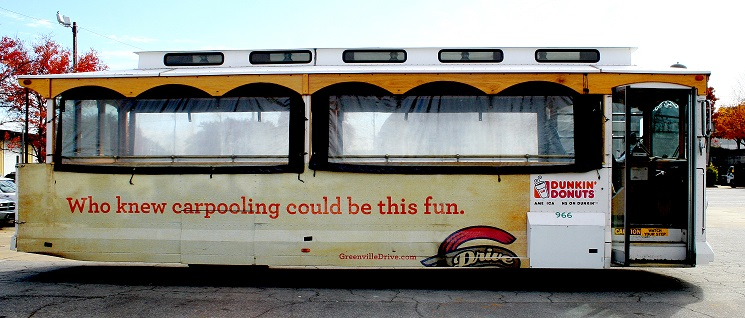 Greenville-Drive-outdoor-advertising-copywriting-by-lochness-marketing-trolley-carpooling