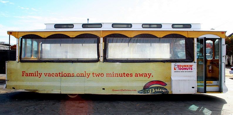 Greenville-Drive-outdoor-advertising-copywriting-lochness-marketing-trolley-vacations