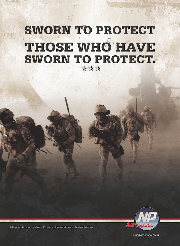 Advertising copywriting for defense company for United Kingdom.
