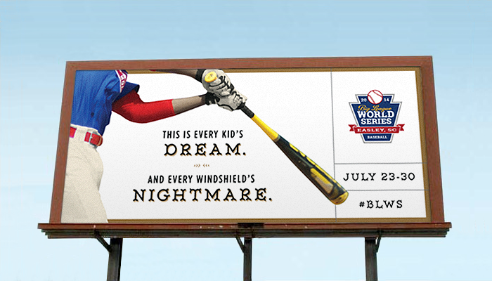 big-league-world-series-advertising-copywriting-outdoor-by-Lochness-Marketing-greenville-windshield