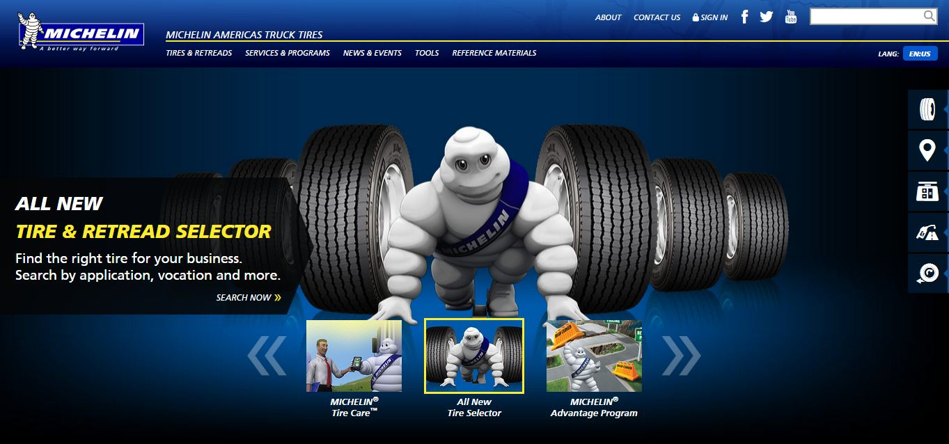 Michelin-webpage-Lochness-Marketing-SEO
