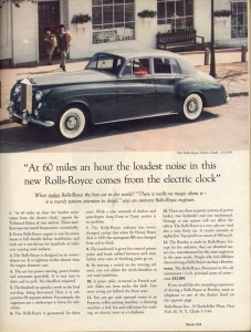 David Ogilvy Rolls Royce Ad Lochness Marketing Advertising Copywriting