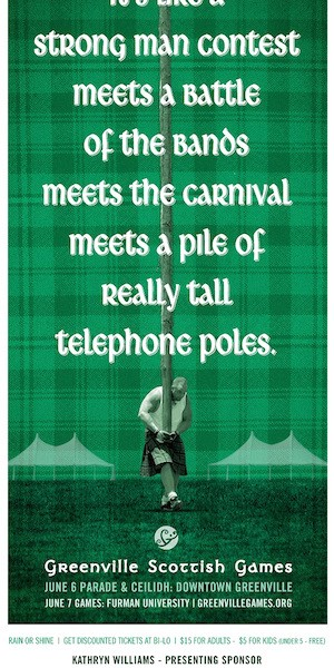 Scottish Games poster freelance copywriter Lochness