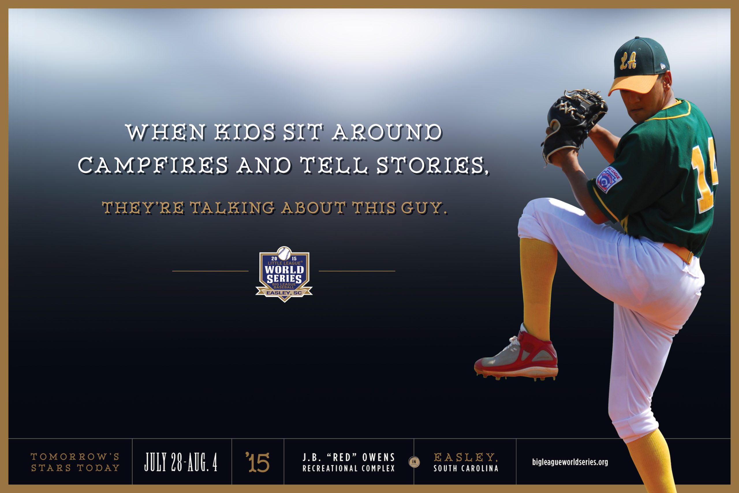 Big-League-World-Series-baseball-poster-advertising-copywriting-Lochness-Marketing-campfire