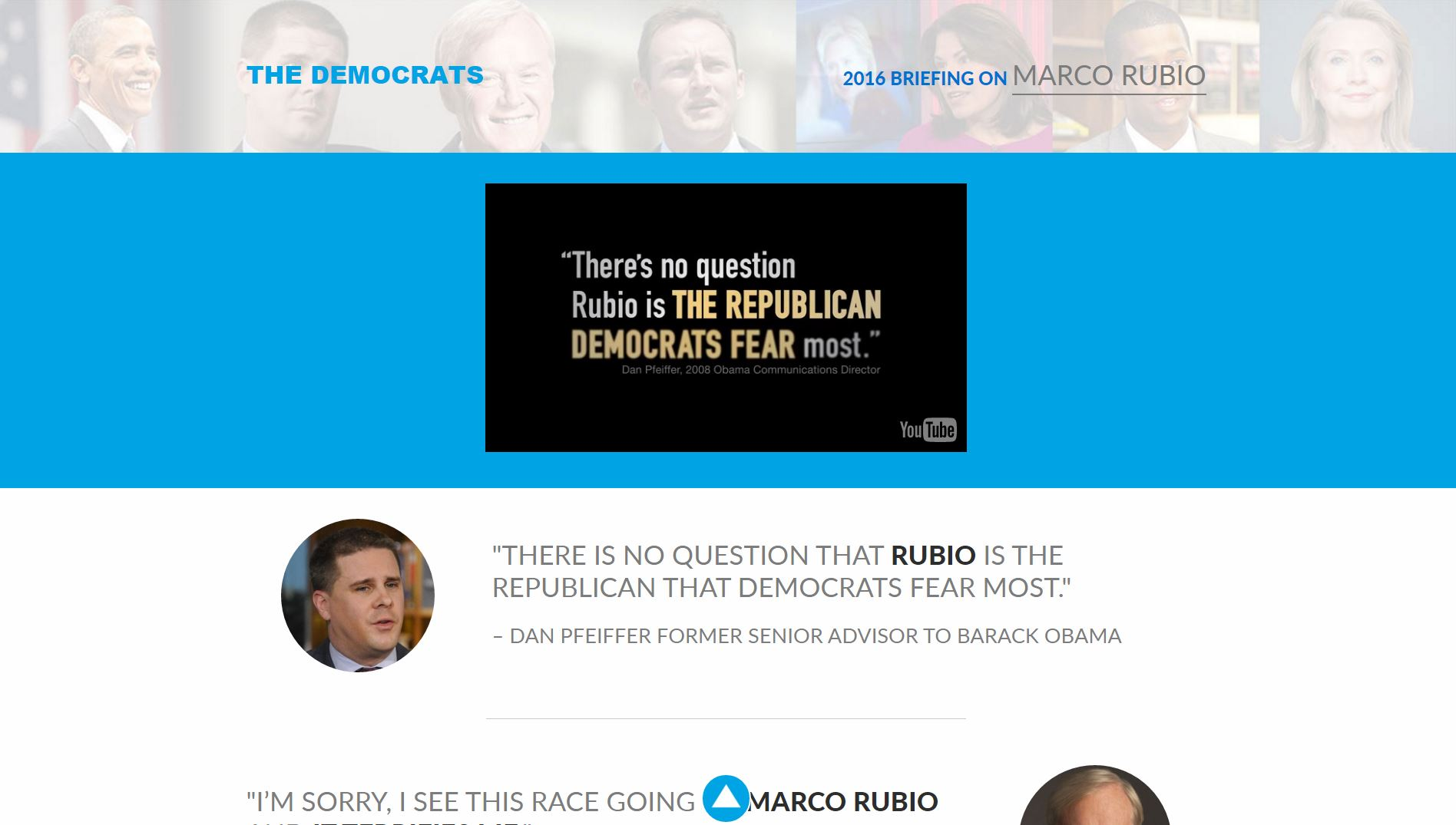 Marco Rubio Advertising Copywriting Campaign Website Lochness Marketing